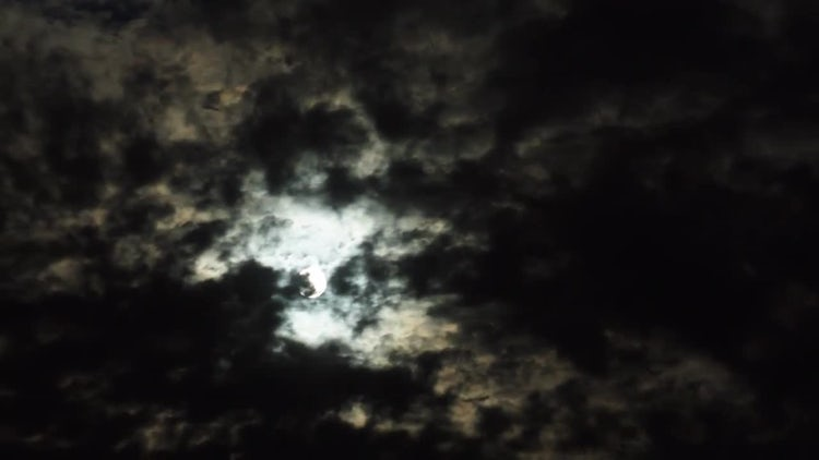 Night Clouds Moon time lapse: Stock Video