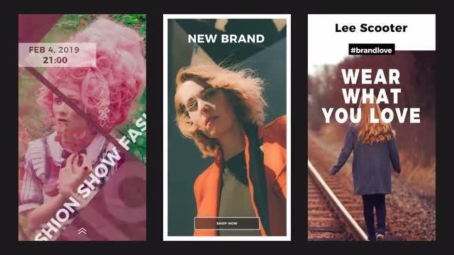 12 Beautiful Instagram Stories: Premiere Pro Templates