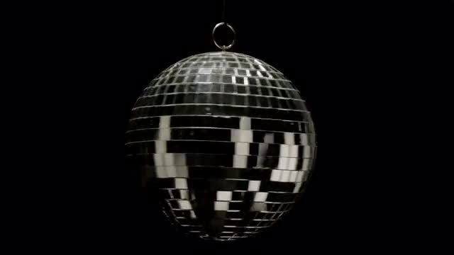 Disco Ball Lamp Rotating: Stock Video