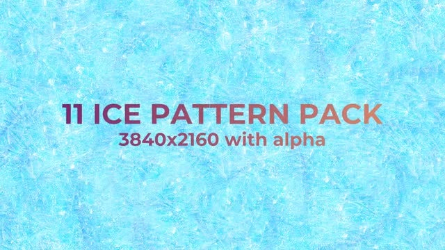 Ice Pattern Pack: Stock Motion Graphics