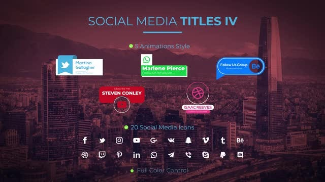 Social Media Titles IV: Motion Graphics Templates