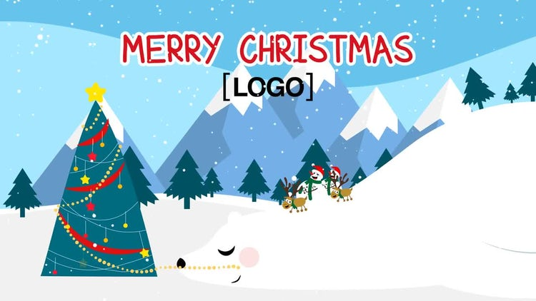 Neo Greeting Snowman: After Effects Templates