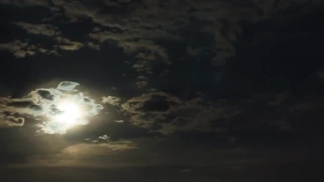 Moon Clouds Sky time lapse: Stock Video