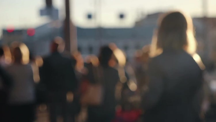 Crowd of Anonymous People: Stock Video