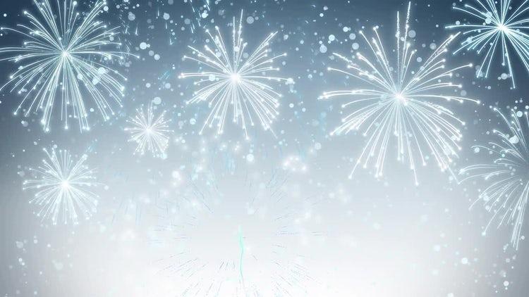 White Fireworks Background: Stock Motion Graphics
