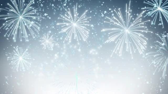 White Fireworks Background: Stock Motion Graphics