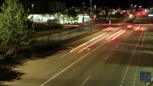 Car Light Trails: Stock Video
