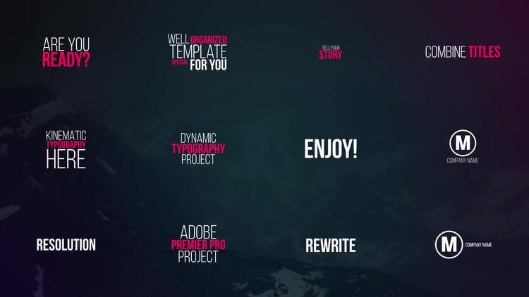 Kinetic Titles: Premiere Pro Templates