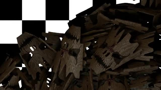 Voodoo Mask Transition : Stock Motion Graphics