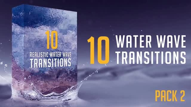 Water Wave Transitions Pack 2: Stock Motion Graphics