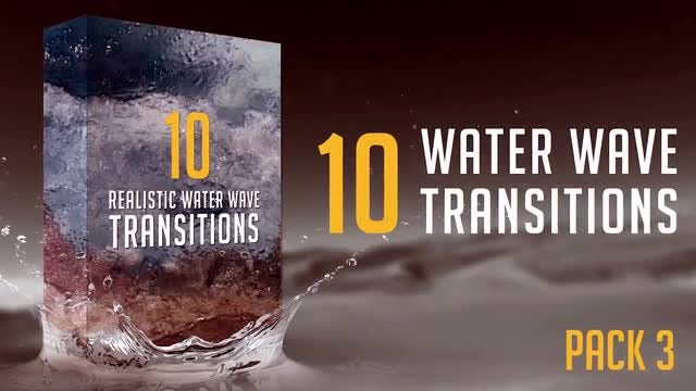 Water Wave Transitions Pack 3: Stock Motion Graphics