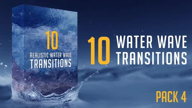 Water Wave Transitions Pack 4: Stock Motion Graphics