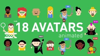 18 Animated Avatars: After Effects Templates