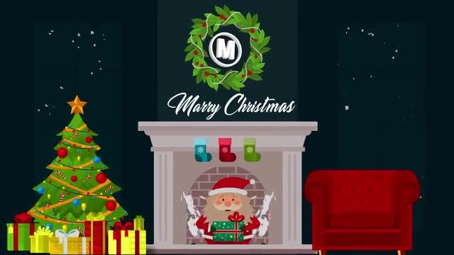 Flat Christmas Logo: After Effects Templates