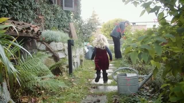 Toddler Running Towards Grandma: Stock Video