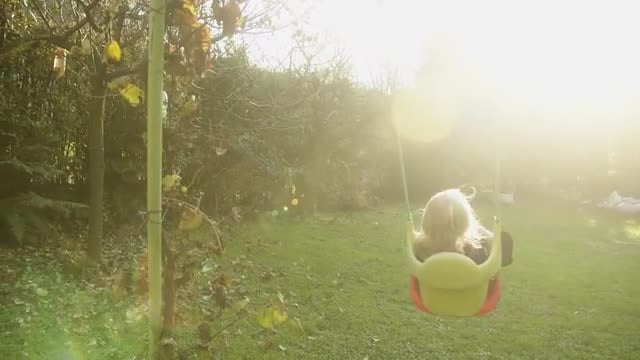 Baby Swinging In The Park: Stock Video