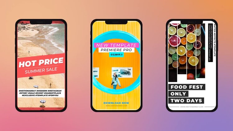 Modern Instagram Stories: Premiere Pro Templates