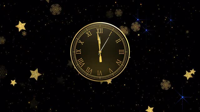 New Year Countdown Clock & Fireworks 153765