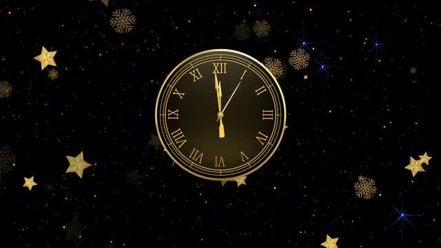 New Year Countdown Clock & Fireworks: Stock Motion Graphics