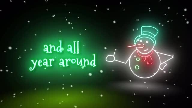 Neon Glitch Rock Christmas: After Effects Templates