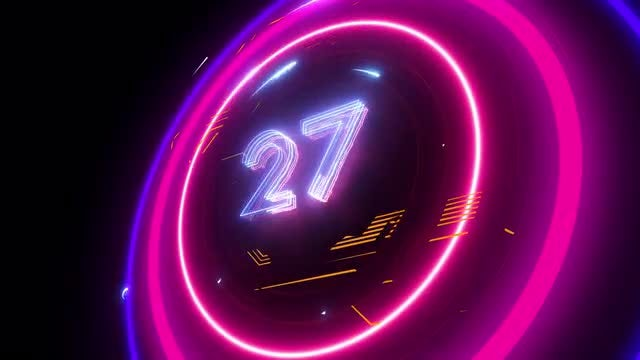 60 Sec New Year Countdown 2019: Stock Motion Graphics