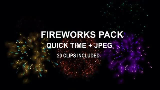 Fireworks Pack: Stock Motion Graphics