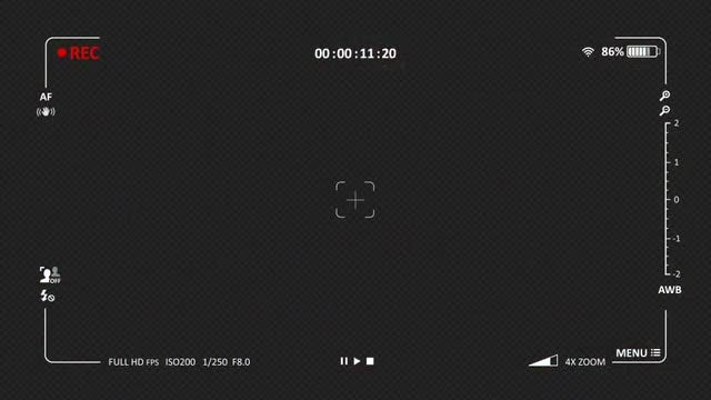 Camera Recording Screen 01: Stock Motion Graphics
