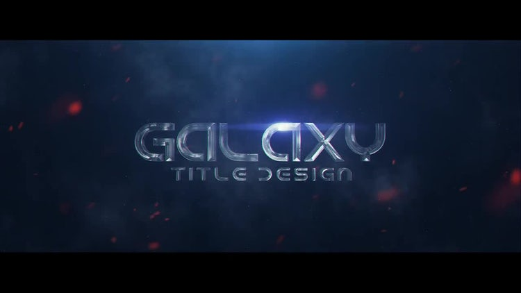 Galaxy Title Design: After Effects Templates