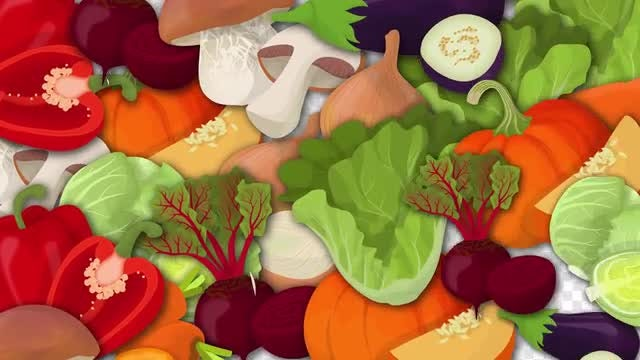 Vegetables Transition Pack: Stock Motion Graphics