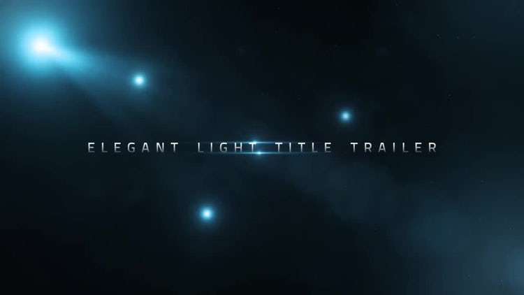 Elegant Light Title Trailer: After Effects Templates