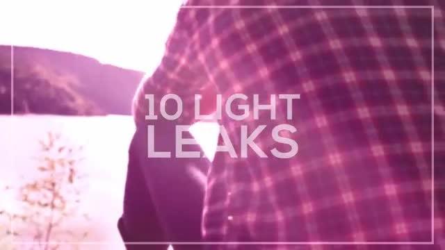 10 Light Leaks: Stock Motion Graphics