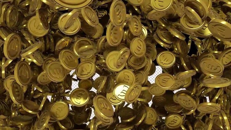Gold Euro Transition: Stock Motion Graphics