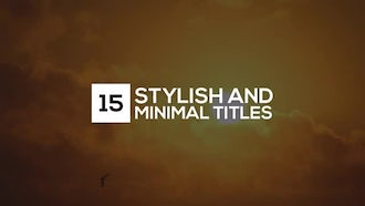 Clean Minimal Titles: After Effects Templates