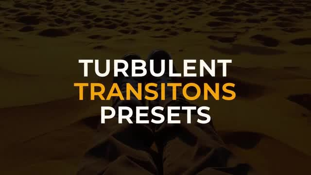 Turbulent Transitions Presets: Premiere Pro Presets