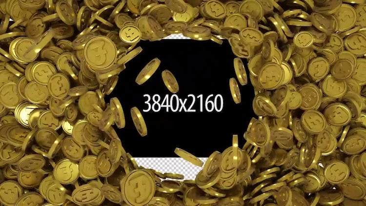 Gold Pound Transition: Stock Motion Graphics