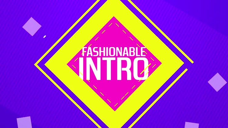Fashionable Intro: After Effects Templates