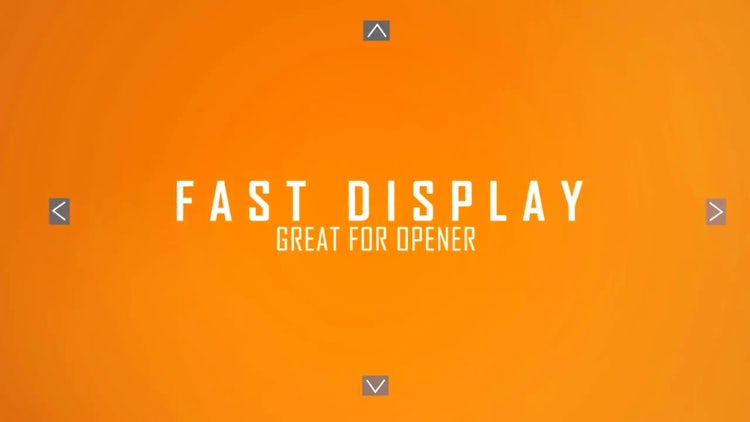 Fast Display: After Effects Templates