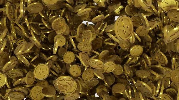 Gold Yen Transition: Stock Motion Graphics