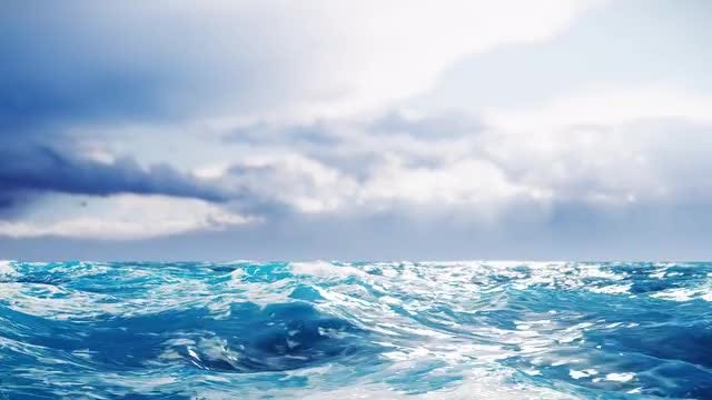 Big Blue Rolling Ocean Waves: Stock Motion Graphics
