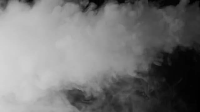 White Smoke Swirling: Stock Video