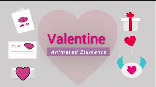 Valentine Pack- Animated Elements: After Effects Templates