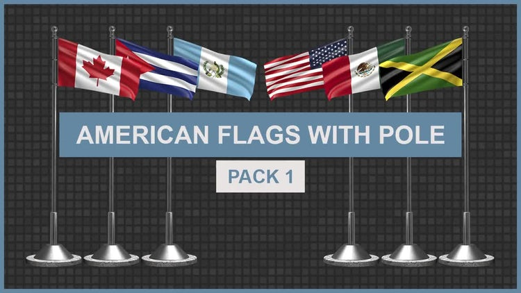 Flags With Pole Pack 1: Motion Graphics
