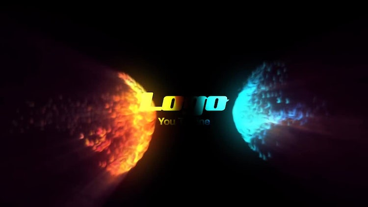 Fire And Water Logo Reveal: After Effects Templates