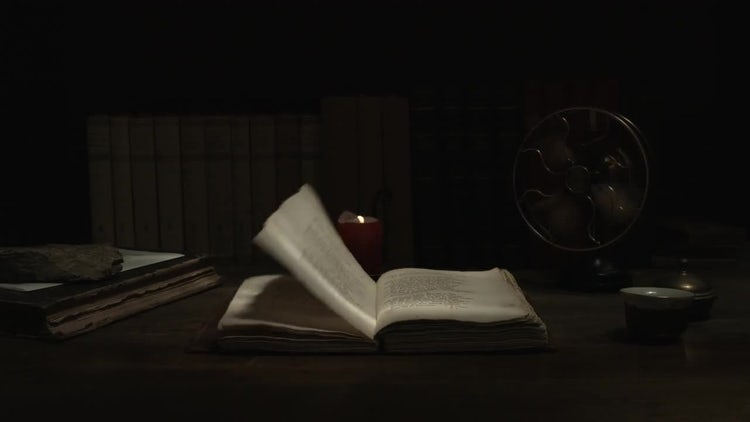 Pages Of Old Book Turning: Stock Video