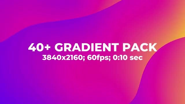 40+ Ramp Gradient Background Pack: Stock Motion Graphics