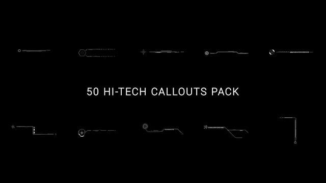50 Hi-Tech Callouts Pack: Stock Motion Graphics