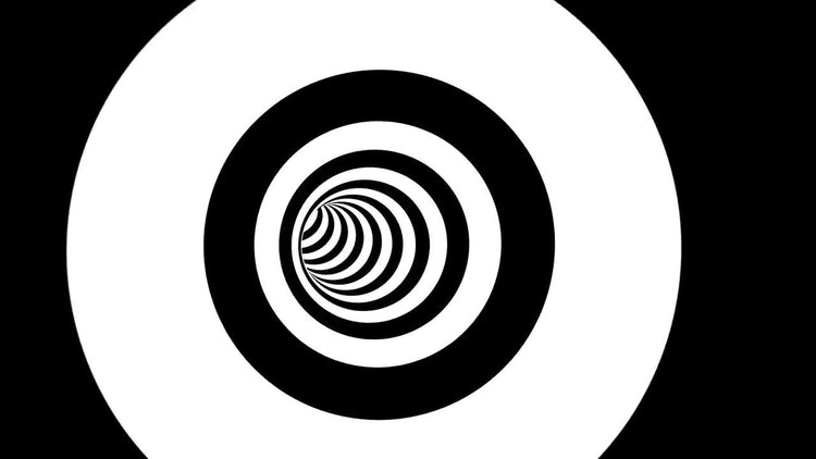 Black And White Circles Tunnel: Stock Motion Graphics