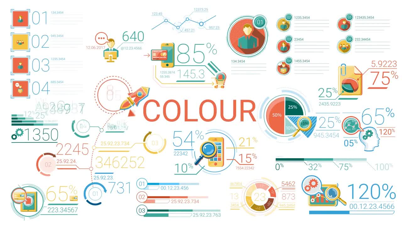 30 Abstract Infographic Elements - Stock Motion Graphics