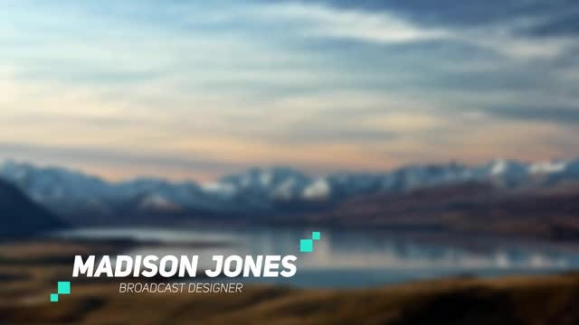 Stylish Lower Third: After Effects Templates