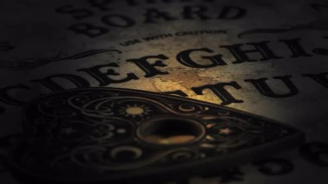 Close-Up Of A Ouija Board: Stock Video